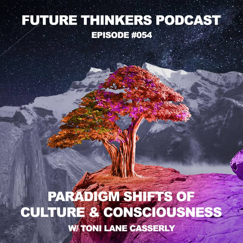 "Future Thinkers Podcast guest Toni Lane Casserly, the Co-Founder of CoinTelegraph and CULTU.RE, investor, recording artist and the founder of the ""immateralism"" art movement, talks to Mike Gilliland and Euvie Ivanova about cultural and consciousness shifts, how blockchain technology can help advance human rights, and increasing our self sovereignty."