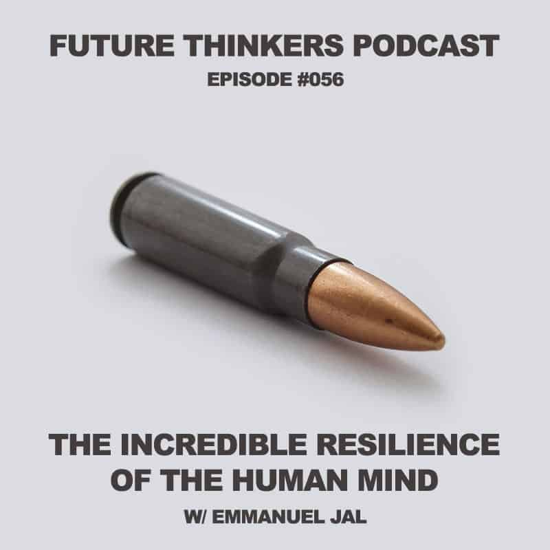 Future Thinkers Podcast guest Emmanuel Jal, former child soldier from South Sudan turned musician and activist, talks to Mike Gilliland and Euvie Ivanova about mental resilience, sovereignty, and importance of storytelling.